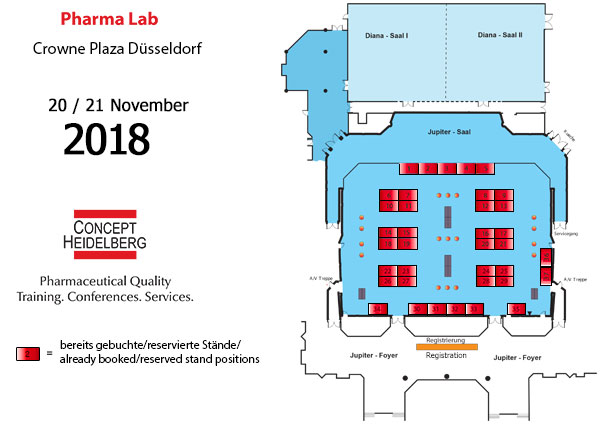 PharmaLab Congress 2018 - Exhibitors plan