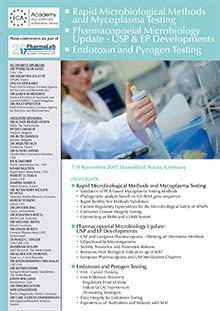 PharmaLab 2017 - Conference Endotoxin and Pyrogen Testing
