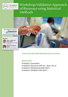 PharmaLab 2017 - Conference Validation Approach of Bioassays using statistical Methods